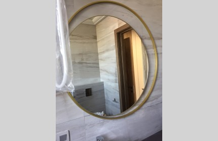 """Зеркало дизайнерское """"Круг в круге"""" 1100 мм"""