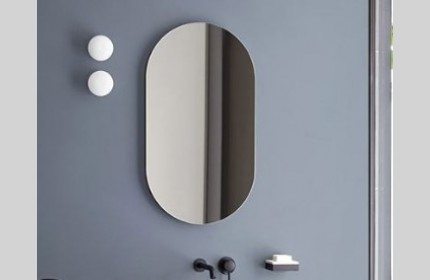 Простое и оригинальное зеркало Овал