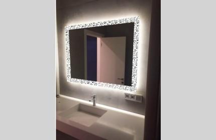 """Зеркало """"ML - Узоры""""  со светодиодной подсветкой"""