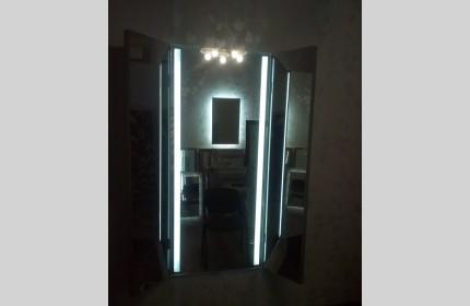 Зеркало навесное настенное трюмо во весь рост с LED подсветкой