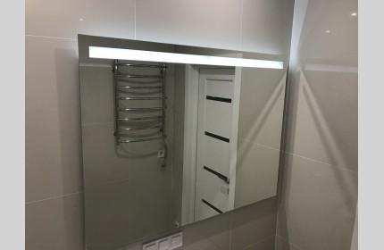 Большое зеркало для ванны с LED подсветкой