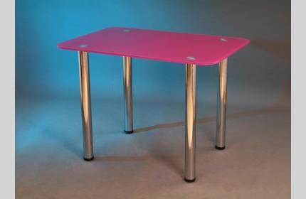 Стол стеклянный обеденный любого цвета