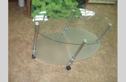 Столик стеклянный Овальный